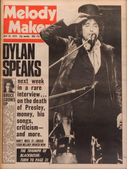 Bob Dylan Framed Melody Maker