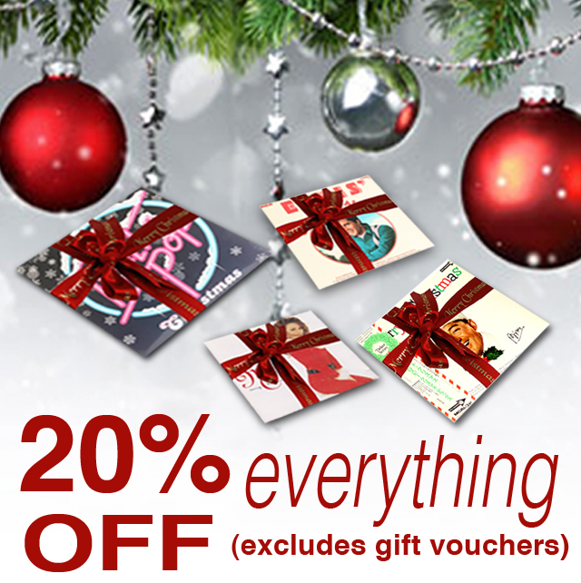 Get 20% off everything the Christmas