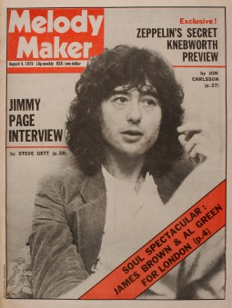Jimmy Page Framed Melody Maker
