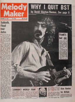 Frank Zappa Framed Melody Maker