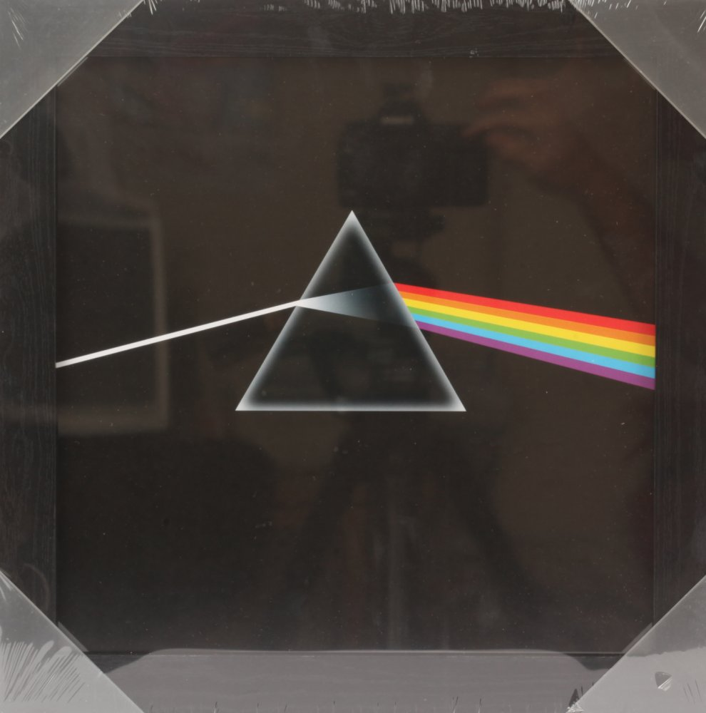 Dark Side Of The Moon Framed Album Cover Print