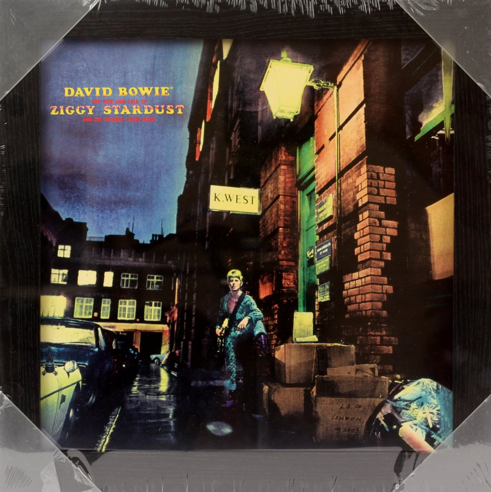 Ziggy Stardust Framed Album Cover Print