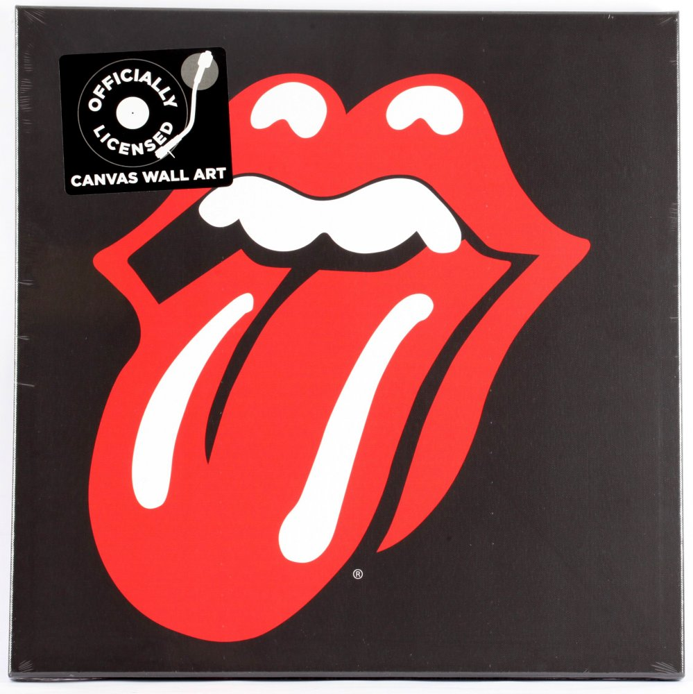 "Rolling Stones ""Lips"" Canvas Print"