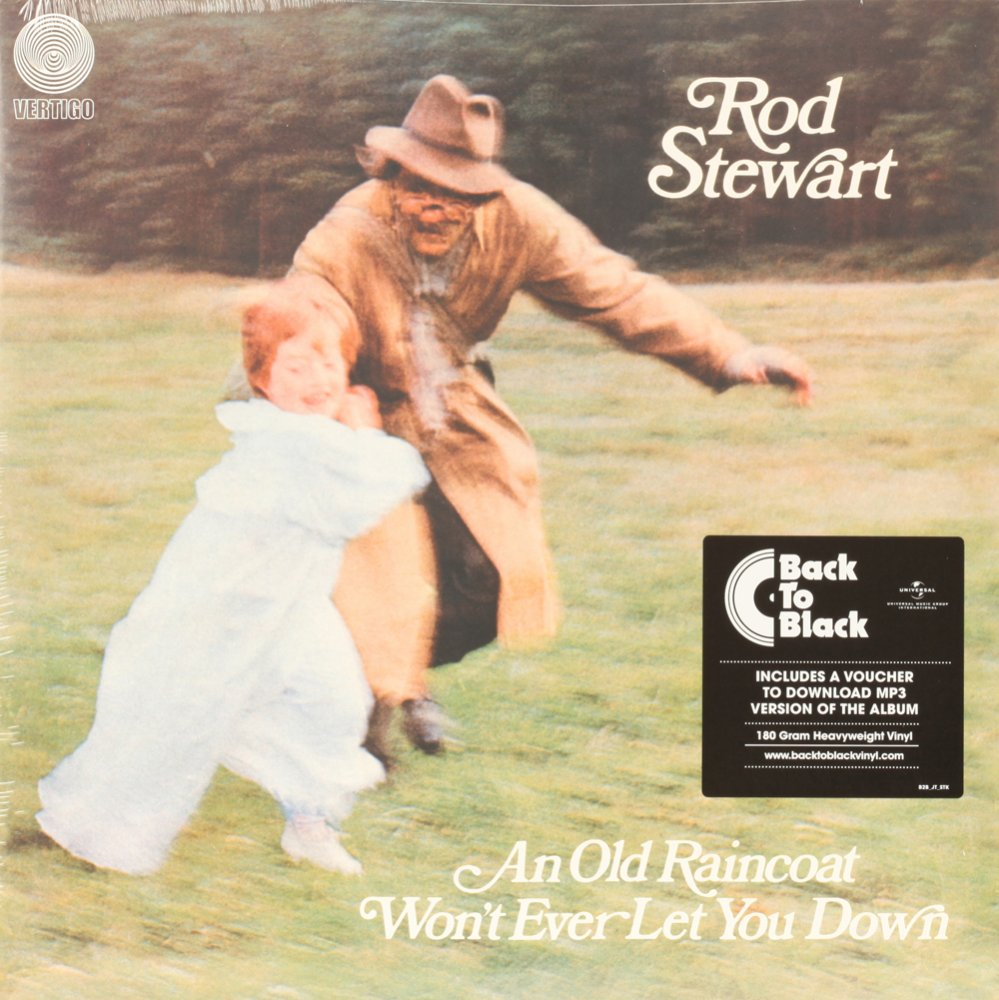 An Old Raincoat Won't Ever Let You Down  ROD STEWART Vinyl Record
